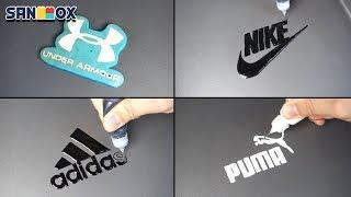 Sportswear Brand Logos Pancake art - Nike, Adidas, Puma, Under Armour