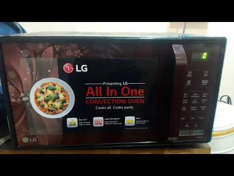 How to use lg microwave MC2146BRT 21 liter convection model full demo