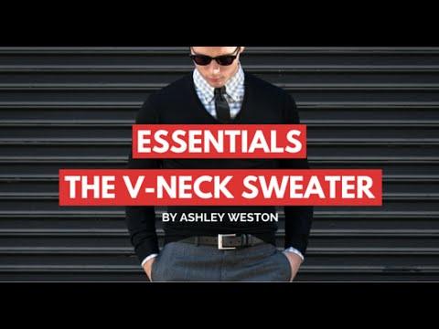 The V-Neck Sweater - Men's Wardrobe Essentials - Gray, Navy, Charcoal vneck