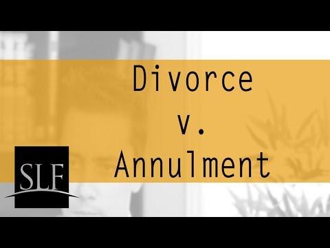 Divorce v. Annulment