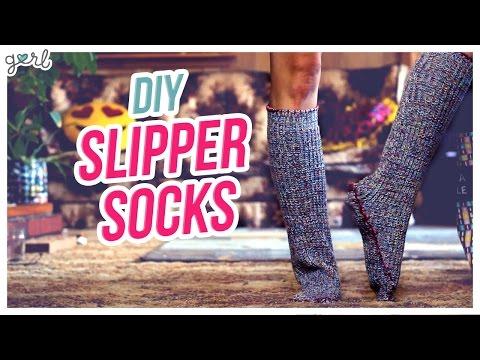 Do It, Gurl – Easy DIY Slipper Socks