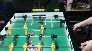 Foosball trick shots with pro foosballer Terry Rue