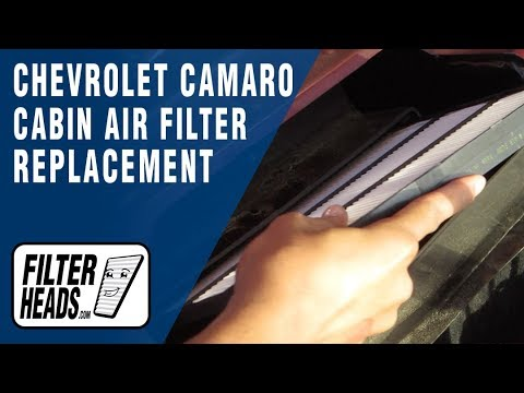 How to Replace Cabin Air Filter Chevrolet Camaro