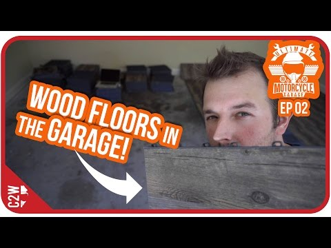 EASIEST garage flooring to install! Wood? - Garage Build Ep 02