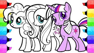 My Little Pony Coloring Book Pages   How to Draw and Color My Little pony Movie Twilight fluttershy