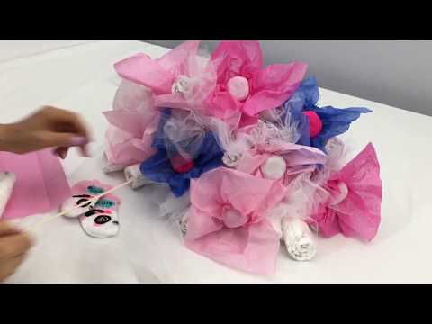 BABY | Diaper Bouquet 2 | Diaper Cake (Tutorial)