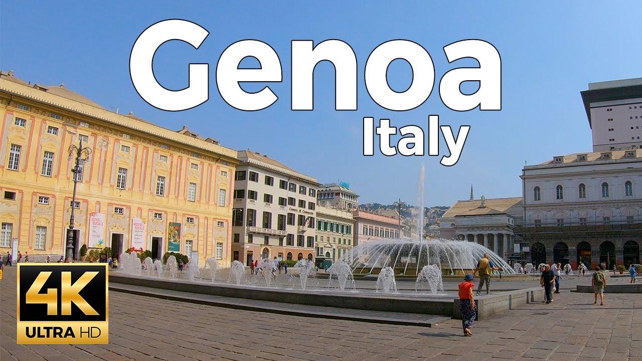 Genoa, Italy Walking Tour (4k Ultra HD 60fps)