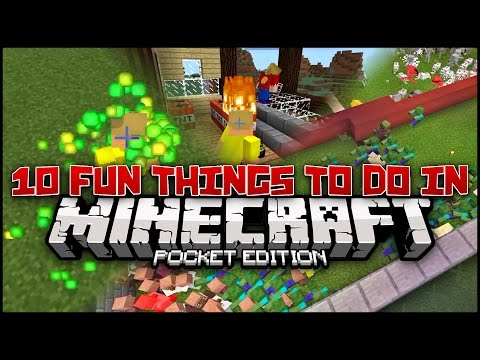 10 Fun Random Things to do in Minecraft PE (Pocket Edition)