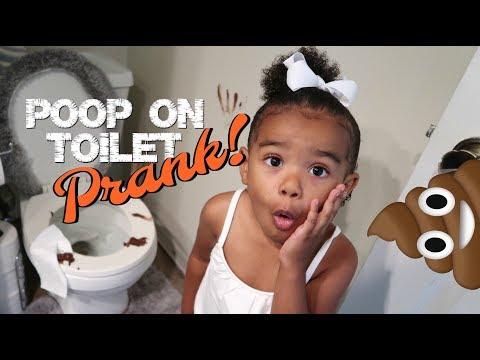 POOP ON TOILET PRANK ON 3 YEAR OLD (I Blamed Her! OMG!)