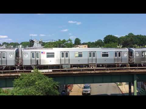 BMT Jamaica Line: Not in Service R160A-1 Train Bypassing Broadway Junction