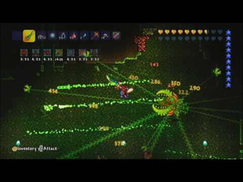 Terraria Xbox 360 Plantera Boss Battle