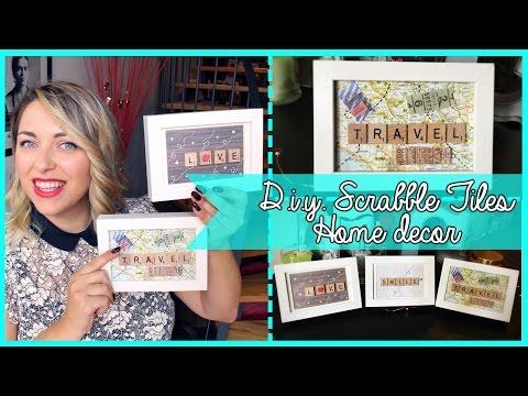D.I.Y. Scrabble tiles framed homedecor - Cornici fai da te  con tessere dello scarabeo | Giugizu