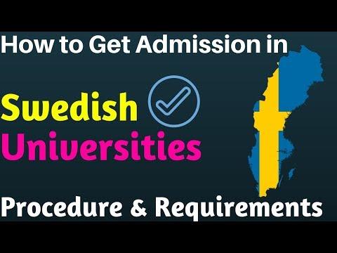 Sweden University Admission