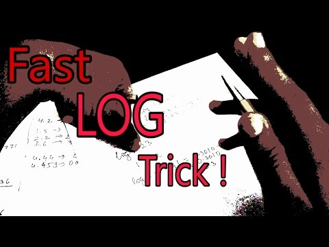 HOW TO SOLVE LOG FASTER THAN ANYONE BY HANDS [Hindi]