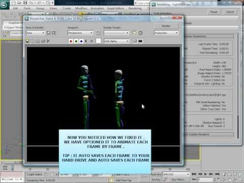 3d max animation - how to save your animation in to a video player step by step HD