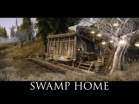 TES V - Skyrim Mods: Swamp Home - A House In Hjaalmarch