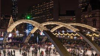 Cavalcade of Lights 2017 Lighting of Christmas Tree Nathan Phillips Square Toronto Downtown Canada