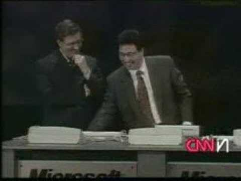 Windows 98 crashes live on CNN