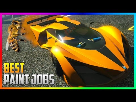 GTA 5 Online - TOP 3 Best RARE Paint Jobs & SEXY Crew Car Color Schemes! (GTA 5 Paint Jobs)