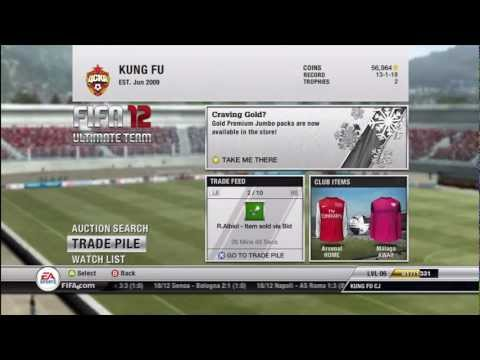 FIFA 12  Ultimate Team | Serie A Forwards | Gold Nuggets