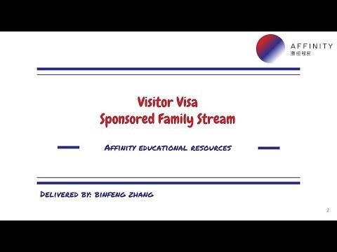 Visitor Visa - Family Sponsored Stream