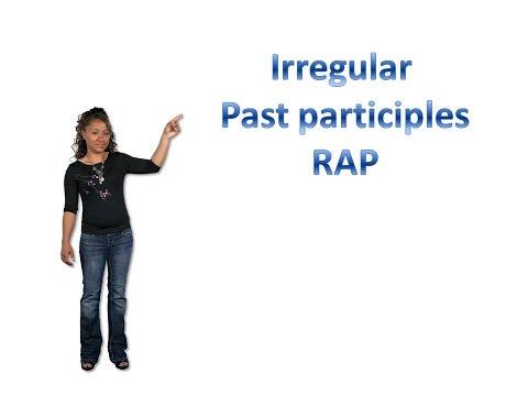 Irregular past participles rap: learn English past participles