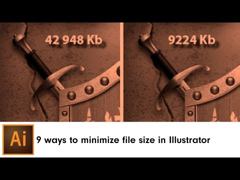 9 ways to minimize file size in Adobe Illustrator