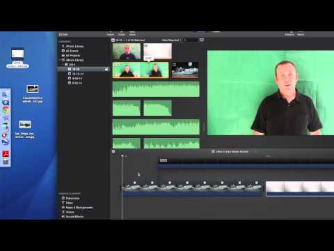 How to Use the Green Screen in iMovie 13