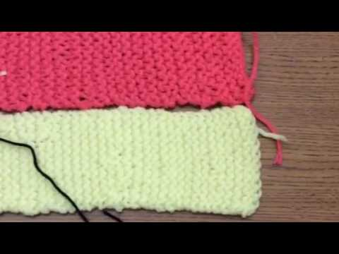 Weaving Knitted Strips into Blankets using the Whipstitch