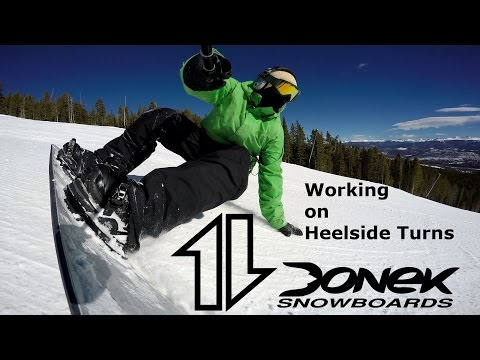 100 seconds of working on heelside snowboard turns