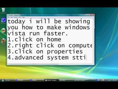 how to make windows vista run faster