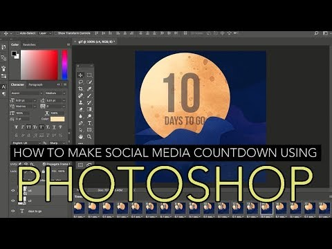 How to Make a Social Media Countdown Using Photoshop