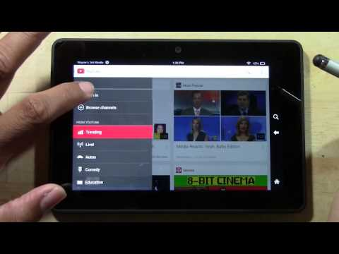Kindle Fire HDX - How to Get the Official YouTube App   H2TechVideos