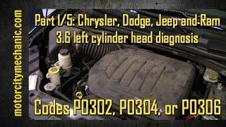 Dodge Caliber Ignition Coil Spark Plug Replacement P0301 P0302 P0303