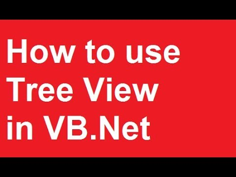 How to use Tree View in VB.Net