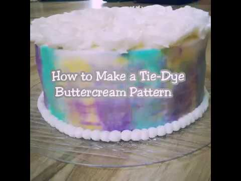 How to Make a Tie-Dye Buttercream Pattern on Cake