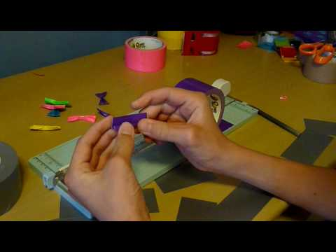 How to make a duct tape bow