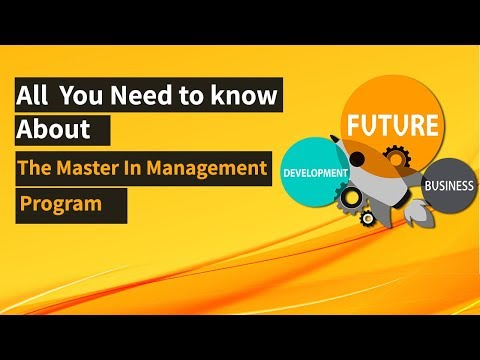 What is Masters in Management?