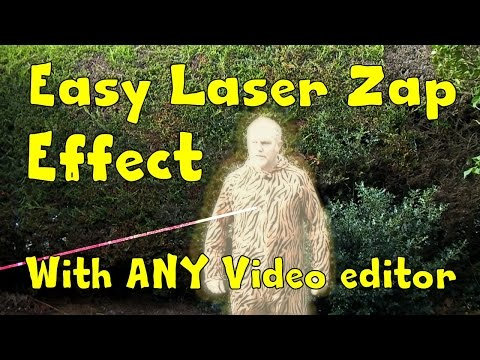 EASY LASER ZAP EFFECT IN ANY VIDEO EDITOR. EVEN WINDOWS MOVIE MAKER