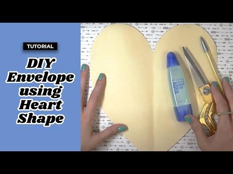 DIY Envelope using a Heart Shape   Origami