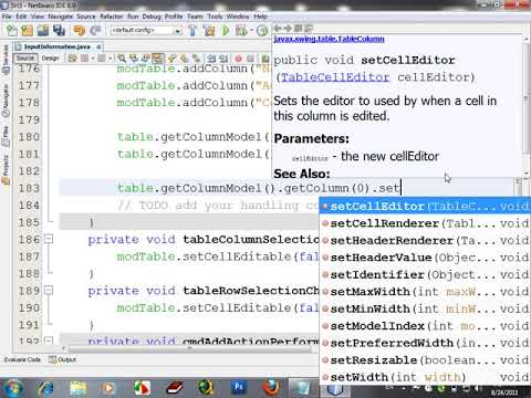 How to Resize Column of JTable in Java Netbeans