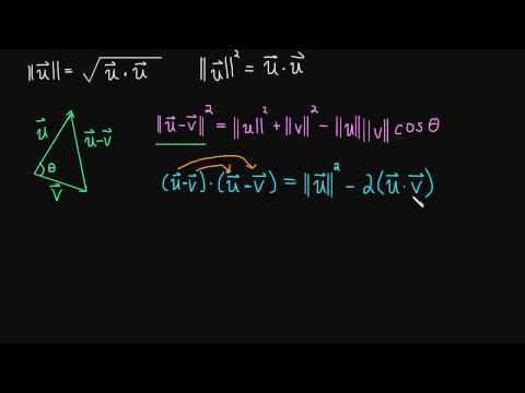 1.3 Dot Product - Angle Between Two Vectors