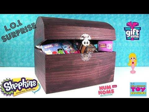 Simon's Blind Bag Treasure Chest #34 LOL Surprise Shopkins Disney Toy Opening | PSToyReviews