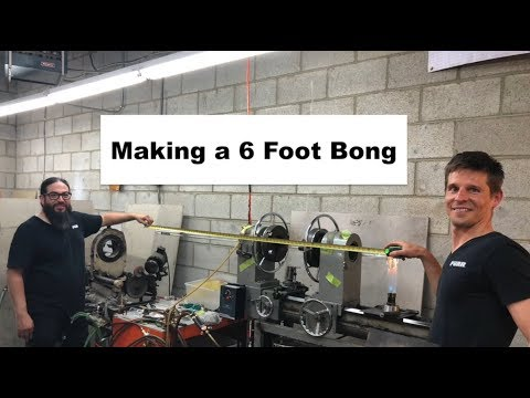 How to make a huge 6 foot custom water pipe bong glass blowing by Purr