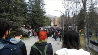 Hacettepe Üniversitesi Beytepe Kampüsünde 23.03.2015 De çıkan Olaylardan Kısa Görüntüler