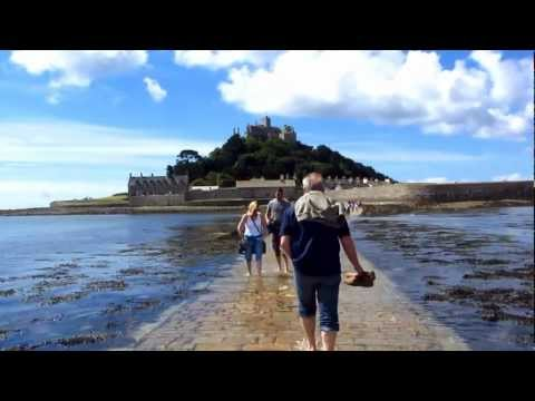 Walking the ancient causeway to St Michael's Mount in Cornwall
