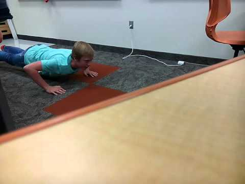 When your teacher makes you do push ups for talking back
