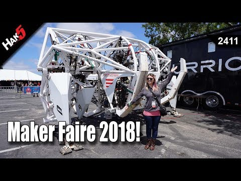 MakerFaire 2018! Star Wars BB8 Builders and Giant Mechs! - Hak5 2411