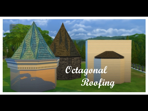 The Sims 4| How to: Octagonal Roofing