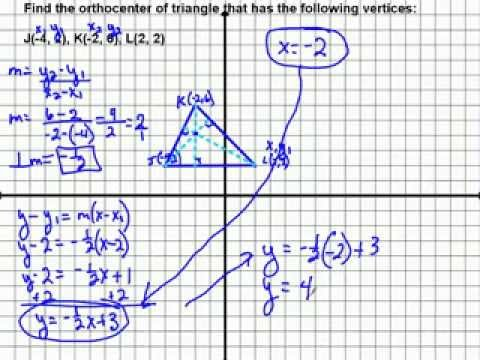 Find Orthocenter of Triangle Using System of Equations